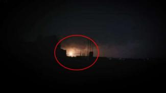 VIVA Militer: Pemandangan di langit Kota Homs.
