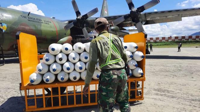 Oksigen Bantuan Panglima TNI Untuk Papua