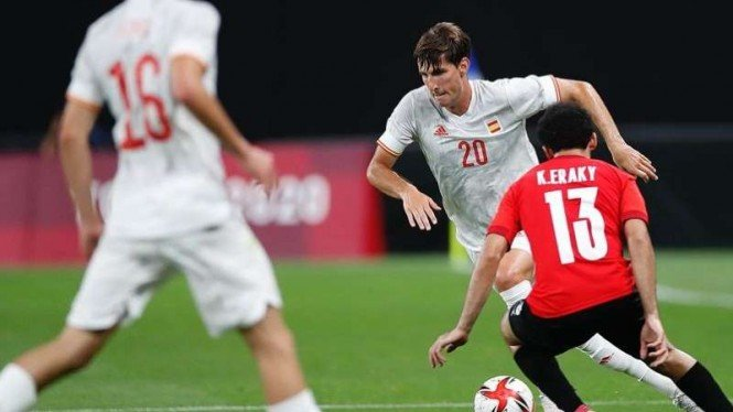 Duel Timnas Spanyol U-23 vs Mesir U-23 di Olimpiade 2020.