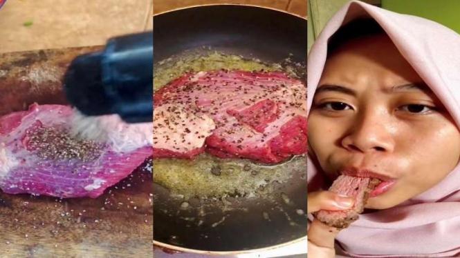 Viral Daging Kurban Dibikin Steak, Pas Dimakan Alot Susah Dikunyah