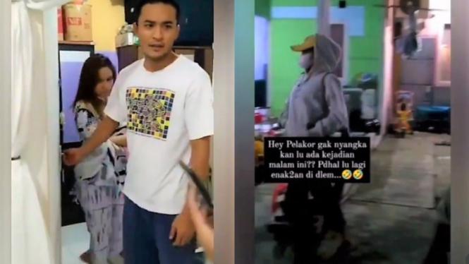 Viral video istri gerebek pelakor sang suami pramugara