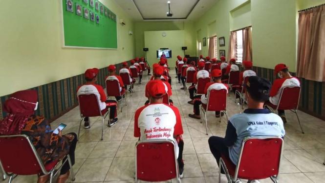 Anak-anak di Lembaga Pembinaan Khusus Anak (LPKA) Klas I Tangerang.