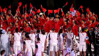 Kontingen China di pembukaan Olimpiade Tokyo 2020