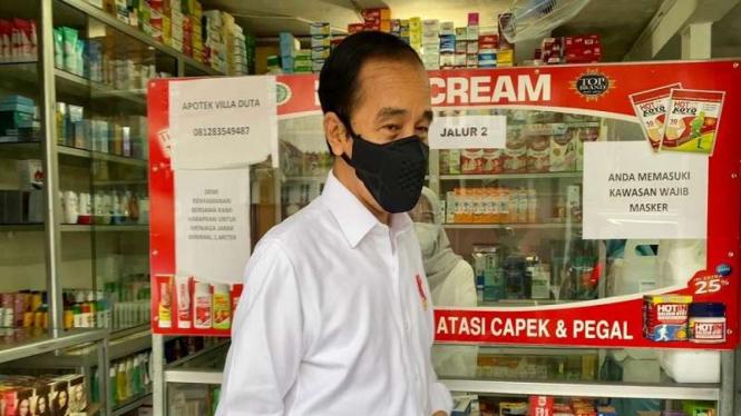 Presiden Jokowi sidak ketersediaan obat COVID-19 di Apotek Kota Bogor