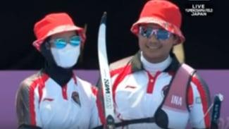 Atlet Panahan RI, Riau Ega Agatha Salsabila/Diananda Choirunnisa di Olimpiade