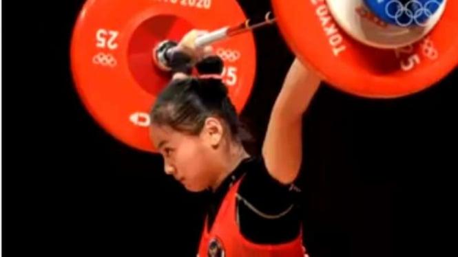 Atlet angkat besi Indonesia, Windy Cantika Aisah.