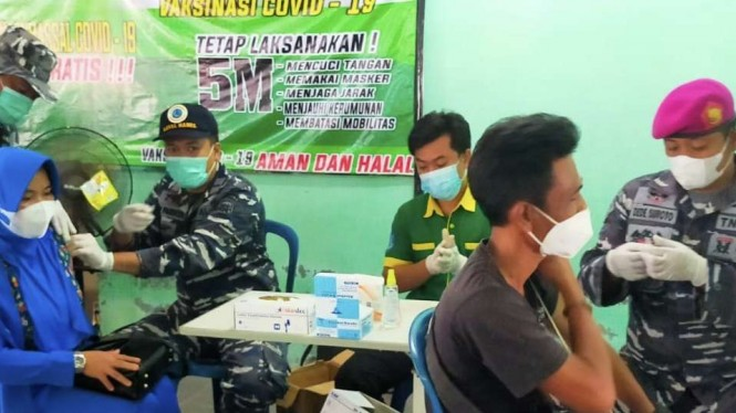 VIVA Militer: Lanal Babel gelar vaksinasi tahap kedua