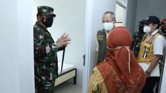 VIVA Militer: Panglima TNI Sidak ke dua tempat Isolasi Terpusat di Bandung