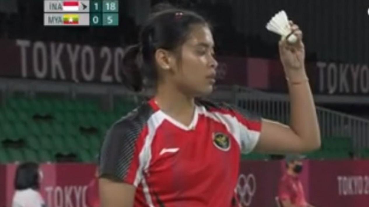 Tunggal putri Indonesia, Gregoria Mariska Tunjung di Olimpiade Tokyo 2020