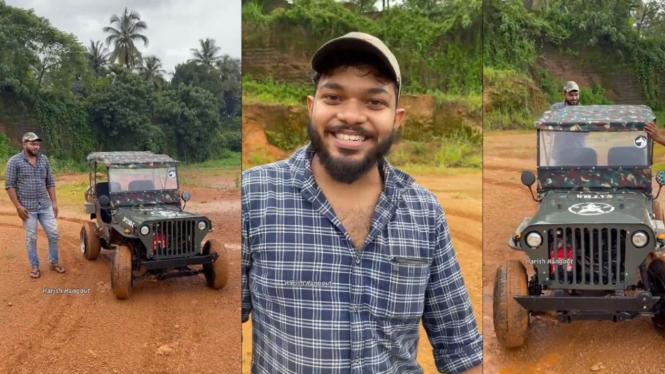 Mobil miniatur Jeep Willys.