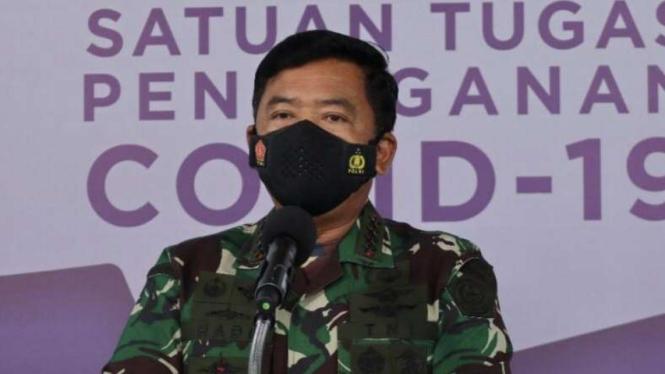 VIVA Militer: Panglima TNI Marsekal Hadi Tjahjanto di Kantor BNPB Jakarta