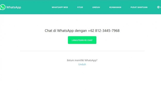 Menggunakan Link WhatsApp