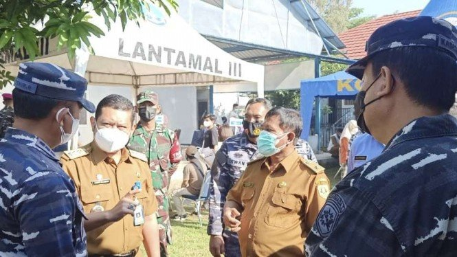 VIVA Militer: Lantamal III Jakarta gelar serbuan vaksinasi di Jonggol