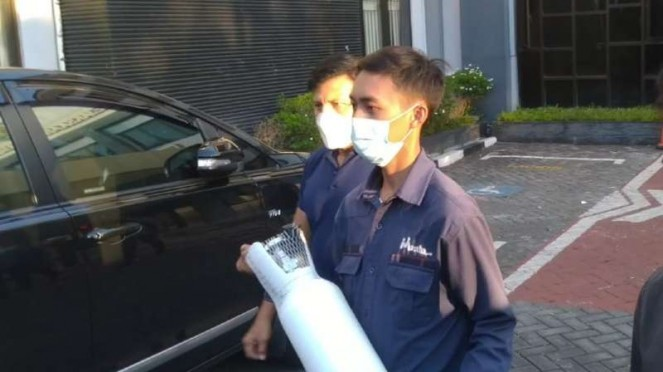 Kejaksaan Negeri Surabaya saat merilis kasus tabung oksigen harga selangit