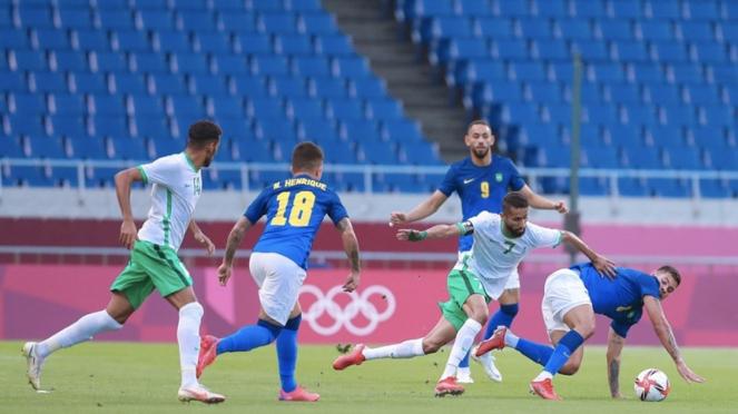 Pertandingan Timnas Brasil U-23 vs Arab Saudi di Olimpiade Tokyo 2020