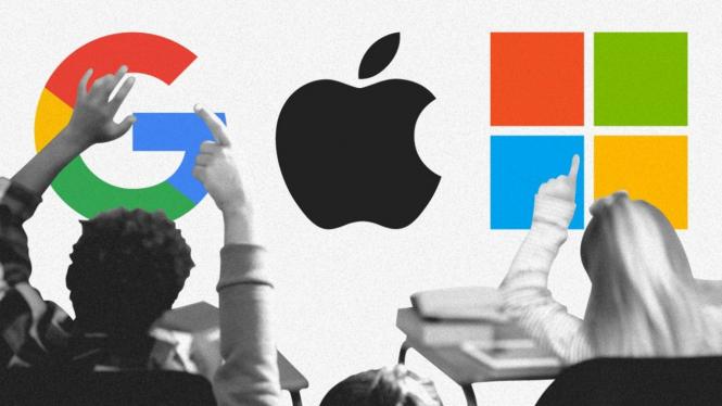 Apple, Microsoft, dan Google Alphabet.