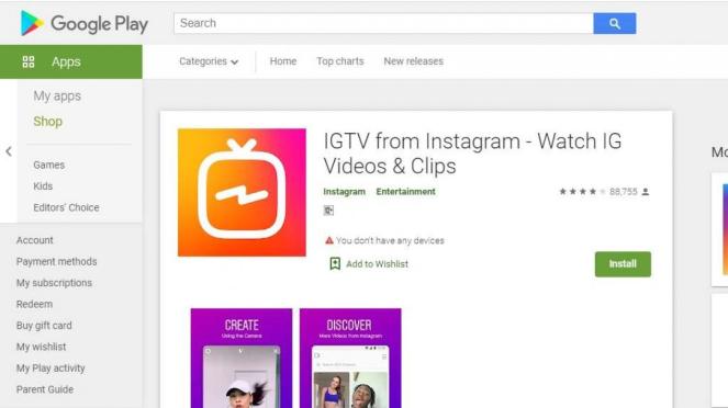 IGTV Play Store