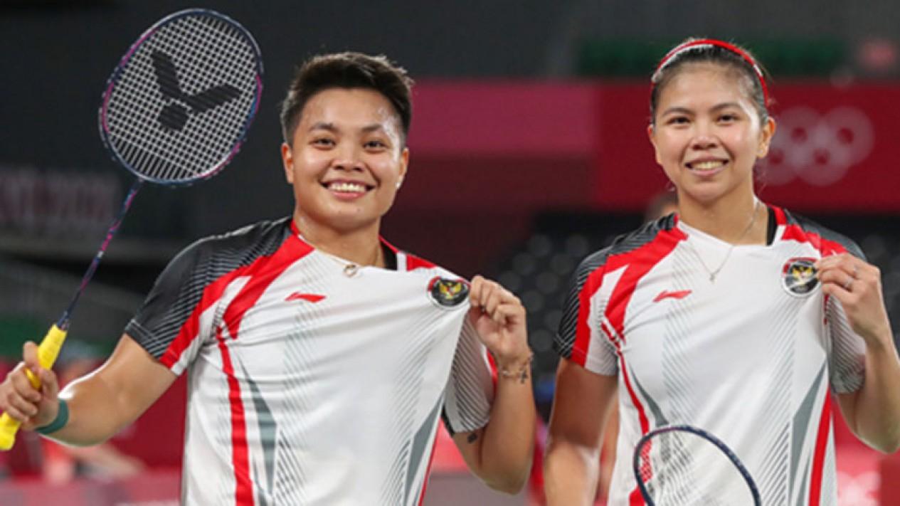 Ganda putri Indonesia, Greysia Polii/Apriyani Rahayu di Olimpiade Tokyo 2020