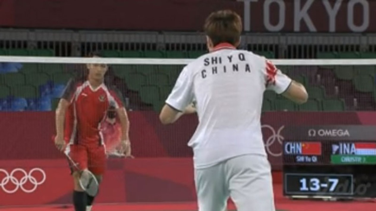 Jonatan Christie vs Shi Yuqi di Olimpiade Tokyo 2020
