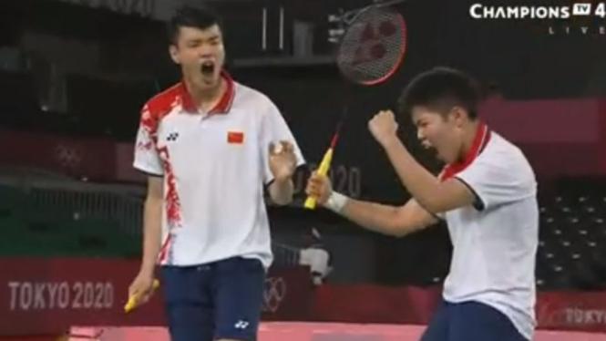 Ganda campuran China, Wang Yilyu/Huang Dongping di Olimpiade Tokyo 2020
