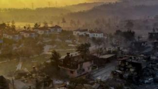 Kebakaran hutan dan lahan yang amat parah di Turki