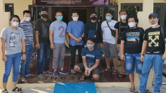 Penangkapan pembunuhan kepala BPBD Kab Merangin, Jambi.