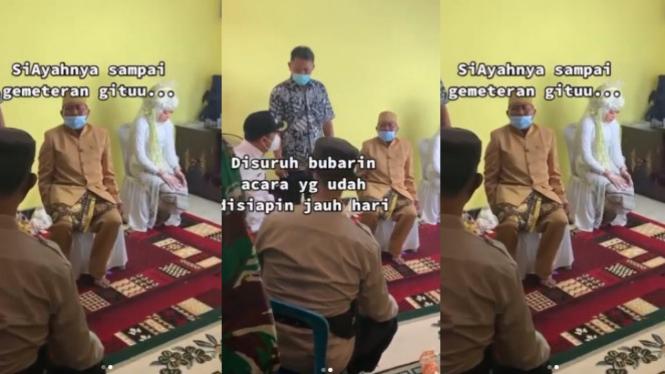 Viral Video Pernikahan Dihentikan, Orang Tua dan Pengantin Sedih (Instagram/smart.gram)