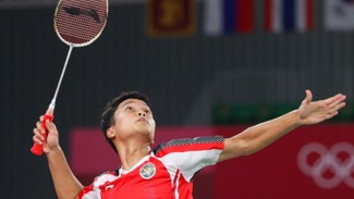 Tunggal putra Indonesia, Anthony Sinisuka Ginting di Olimpiade Tokyo 2020
