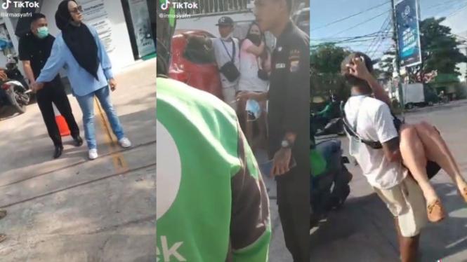 Viral Video Pelakor Ditusuk Istri Sah di Parkiran (TikTok/Irmasyafri)