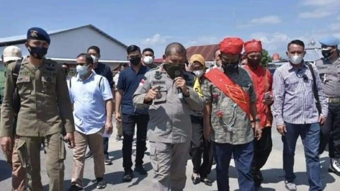 Gubernur Sulteng Rusdi Mastura bertemu pimpinan Satgas Madago Raya