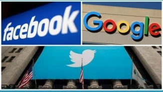 Google, Facebook dan Twitter.
