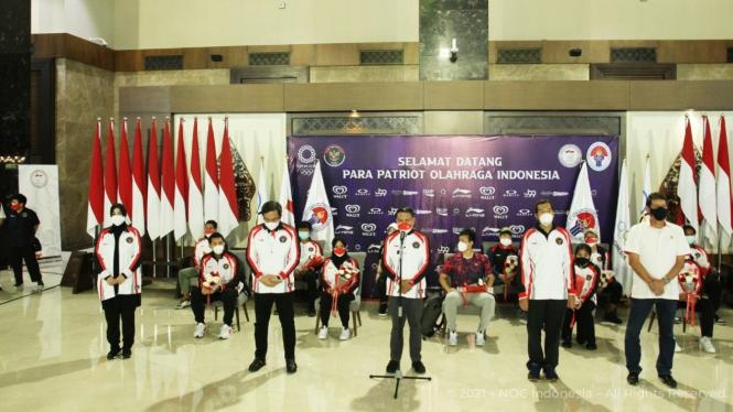 Menpora Zainudin Amali sambut kepulangan atlet Indonesia dari Olimpiade Tokyo
