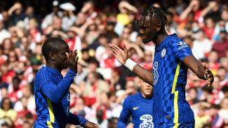 Dua pemain Chelsea, N'golo Kante dan Tammy Abraham