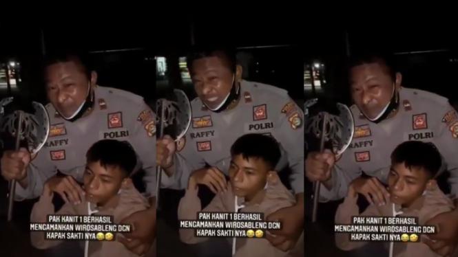 Viral Video Wiro Sableng Ditangkap Polisi (Instagram/cetull.22)
