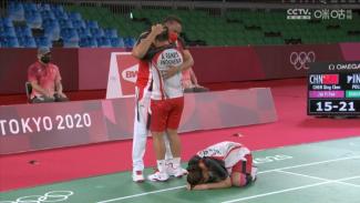 Greysia Polii/Apriyani Rahayu raih medali emas Olimpiade Tokyo 2020.