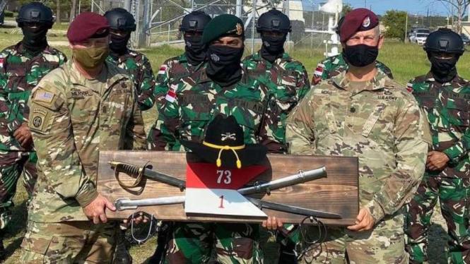 VIVA Militer: Pasukan Yonif Para Raider 305/Tengkorak di Amerika Serikat
