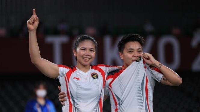 Greysia Polii/Apriyani Rahayu raih emas Olimpiade Tokyo 2020