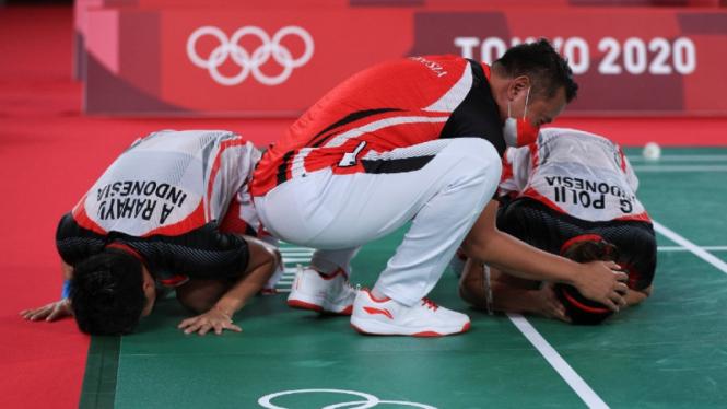 Greysia/Apriyani raih emas Olimpiade Tokyo 2020