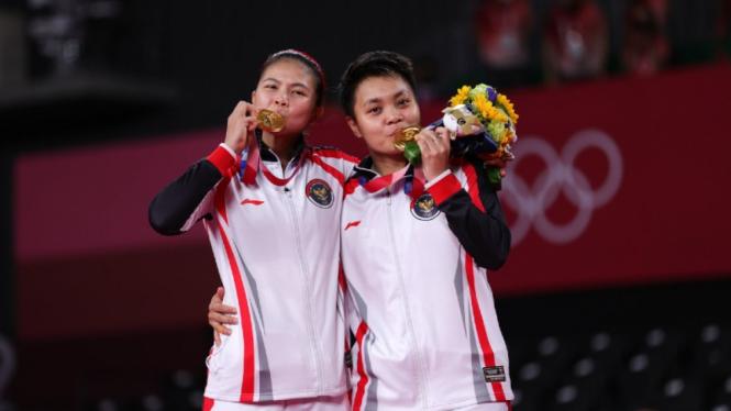 Greysia/Apriyani raih medali emas Olimpiade Tokyo 2020