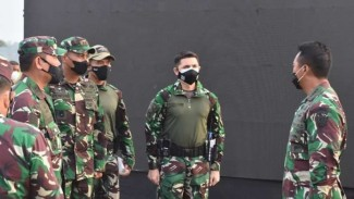 VIVA Militer: Jenderal TNI Andika Perkasa meninjau Latma Garuda Shiel 2021