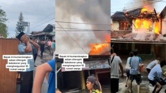Viral Pria Kumandangkan Azan saat Warga Sibuk Padamkan rumah yang terbakar  (Instagram/smart.gram)