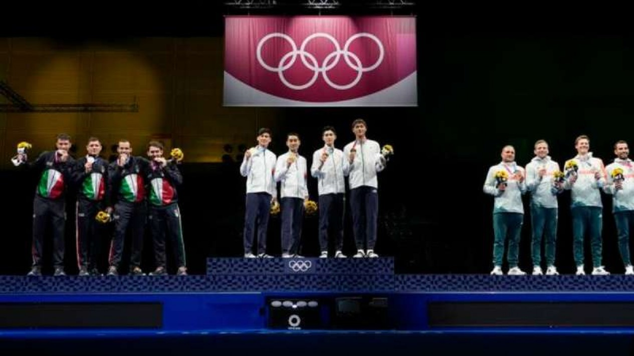 Podium plastik di Olimpiade Tokyo 2020.