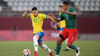 Duel Timnas Brasil vs Meksiko di semifinal Olimpiade 2020