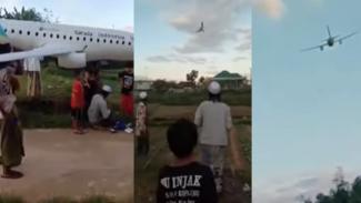 Viral Santri Asal Madura Bikin 'Pesawat' Garuda Indonesia (YouTube/Zein University)