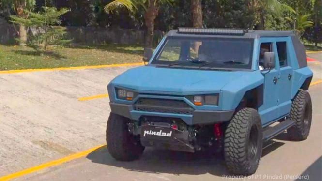 Mobil MV2 4x4 buatan Pindad.