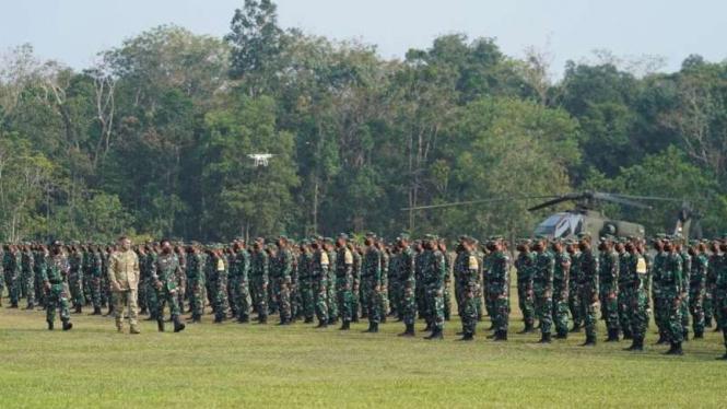 VIVA Militer: Prajurit TNI Angkatan Darat dalam Latma Garuda Shield 2021
