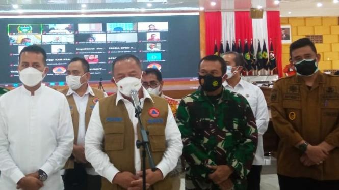 Kepala BNPB  Letjen TNI, Ganip Warsito di Medan