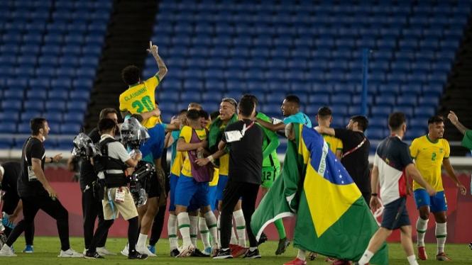 Timnas Brasil raih medali emas Olimpiade 2020