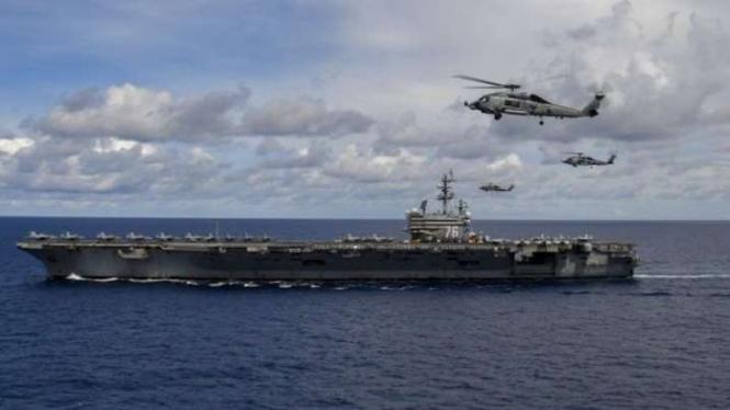 VIVA Militer: Armada tempur militer Amerika Serikat (AS) di Laut China Selatan