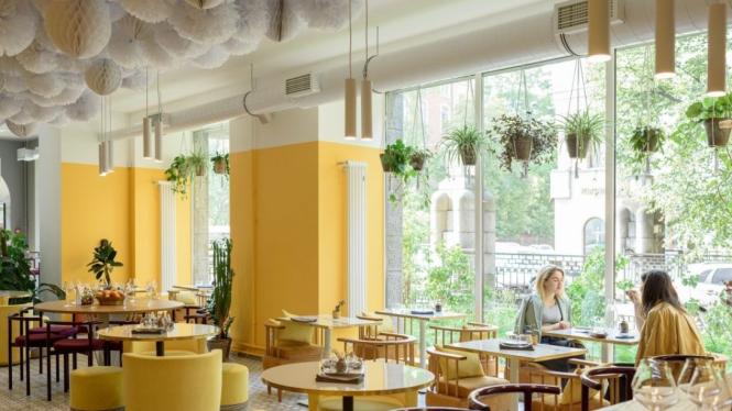 Restoran dengan konsep modern